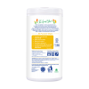 Non-toxic cleaning wipes 80 count contianer citrus zest back