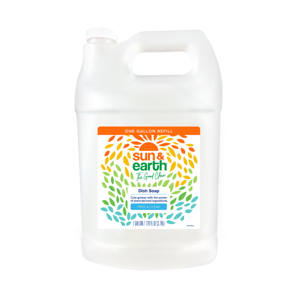 Sun & Earth plant-based dish soap refill free and clear