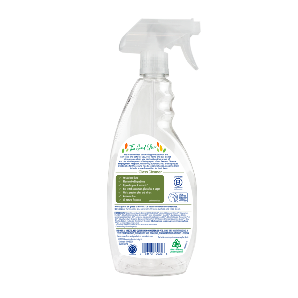 Sun & Earth plant-based glass cleaner lemongrass and sage back