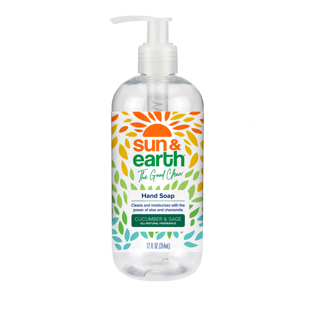 front of hand soap bottle